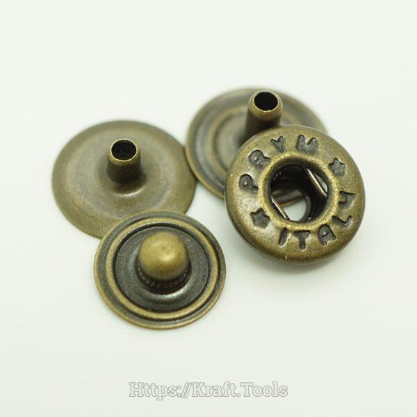 Nút bấm PRYm 4 chi tiết - Mặt ẩn- Đồng giả cổ